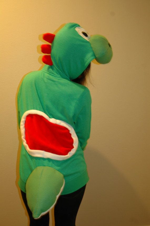 Yoshi Hoodie by Dinkydinosaur on Etsy, $80.00