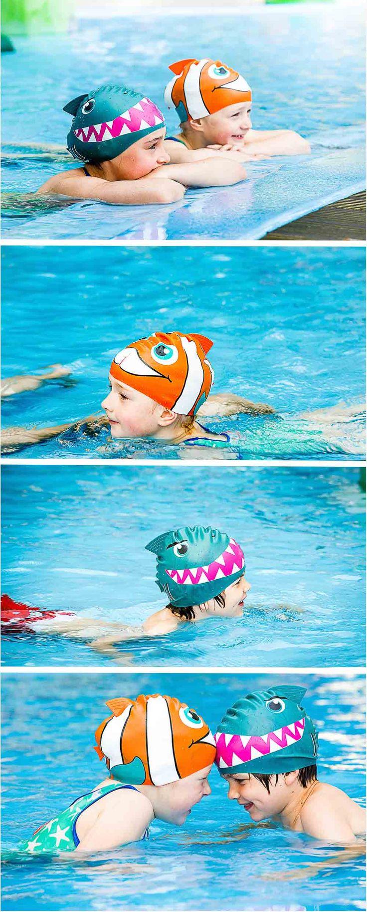 gorros de natación para niños #natacion #gorro #gorrotiburon #gorronemo #nemo #tiburon Regalo para niños #regalos