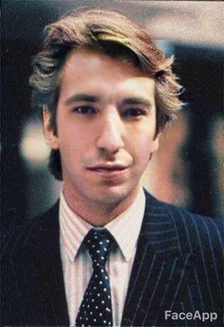 Alan Rickman photo made young with Face App
