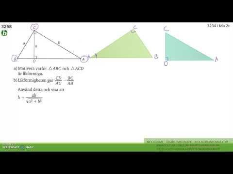 Matematik 5000 Ma 2b   Kapitel 3   Några bevis med likformighet   3258