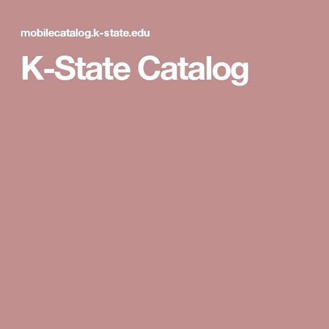 K-State Catalog