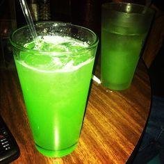 Liquid Marijuana! Really is a good drink! 1/2 oz. Rum, spiced (Captain Morgan's)  1/2 oz. Curacao, blue  1/2 oz. Rum, coconut (Malibu)  1/2 oz. Liqueur, melon (Midori)  Fill with Pineapple Juice  1 splash Sour Mix  Ice  Shake and Pour!