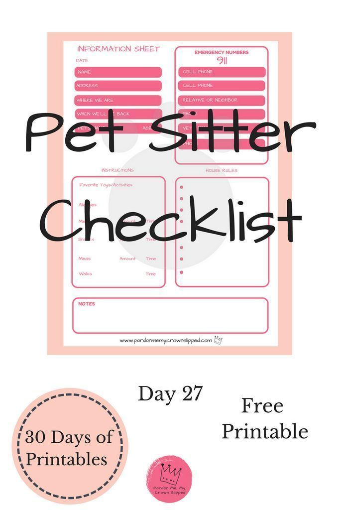 Klicken Sie hier, um eine KOSTENLOSE Pet Sitter-Checkliste für Ihre Abwesenheit… – LoL Dolls