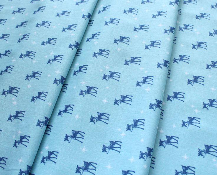 Riley Blake Cozy Christmas C5364 Reindeer Blue