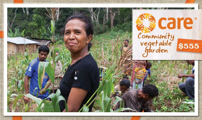 Give an entire community access to fresh vegetables so families can grow healthy and strong. This gift includes training, seeds and tools to grow plenty of health food.  Ines da Costa is the leader of a CARE community farmer's group in Suco Acumanu, Liquica District, Timor-Leste.