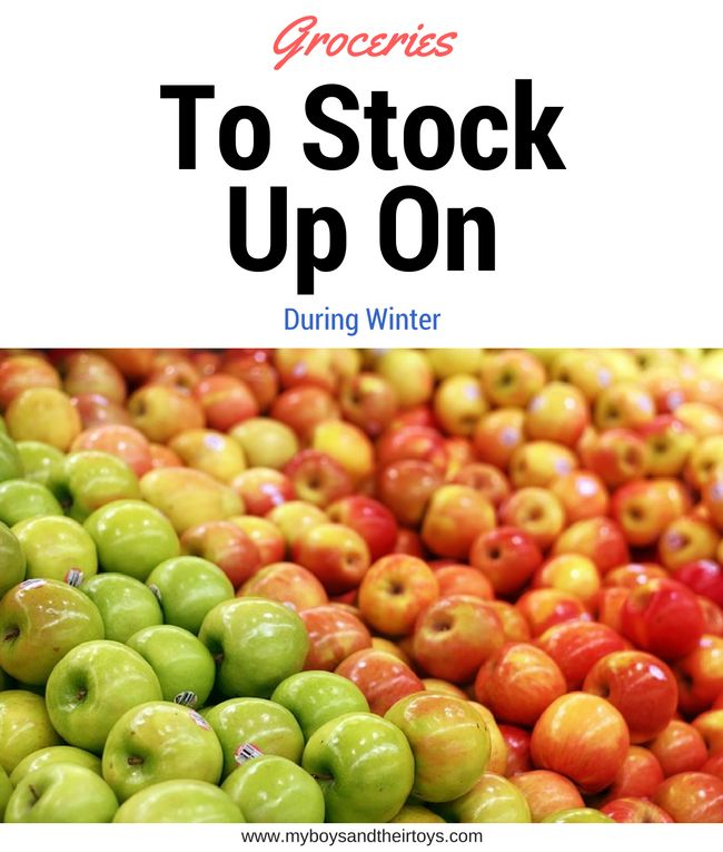 Looking for the best prices on certain items during the winter months? You've come to the right place. Here's a list of the top groceries items to stock up
