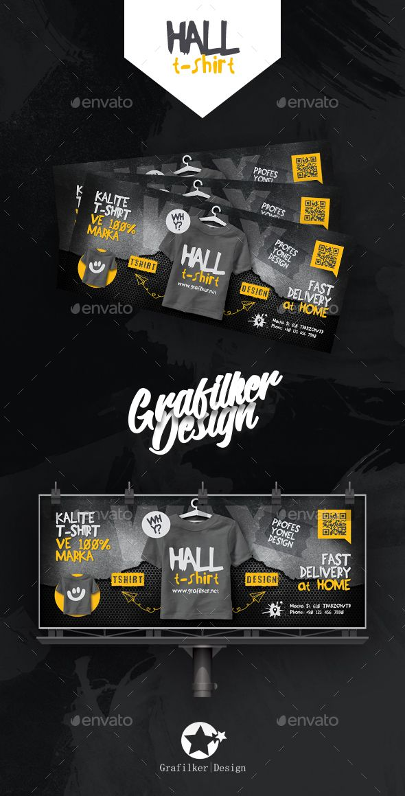 T Shirt Billboard Templates Fully Layered INDD PSD 300 Dpi CMYK IDML Format Open Indesign CS4 Or Later Completely Editable