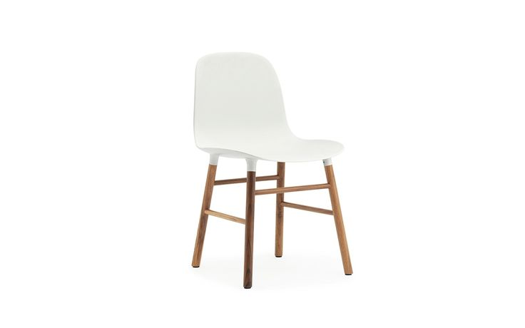 Form Chair white/walnut