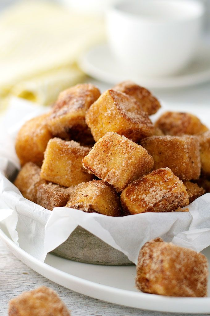 """French Toast Bites by recipetineats: Fun to make, you kind of """"sauté"""" them! And fun to eat - they taste like cinnamon doughnuts. #French_Toast_Bites"""