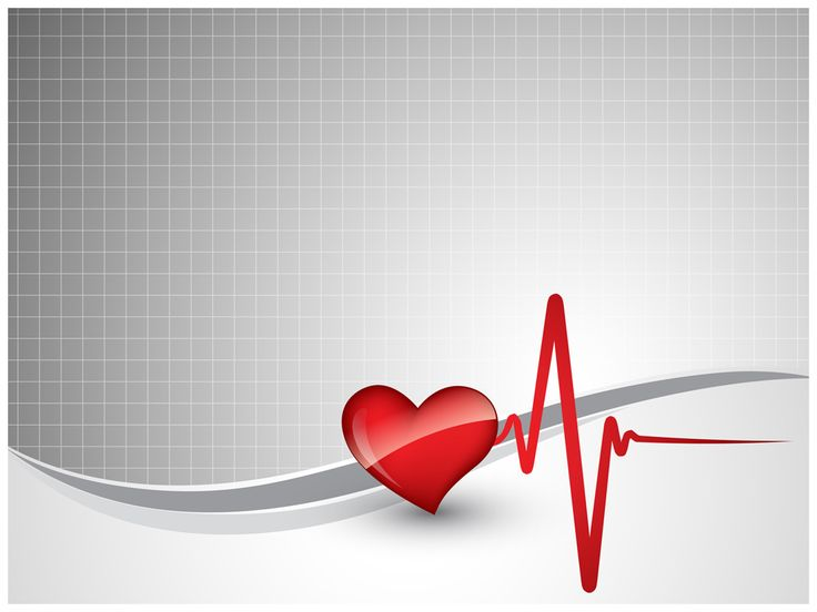 heart beat ppt template tv10129