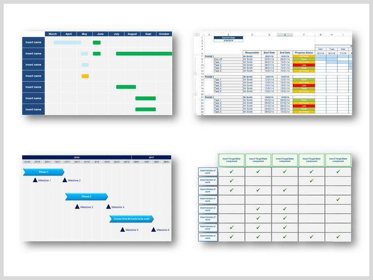 Best Project Plan Templates  Project Timeline Templates Images