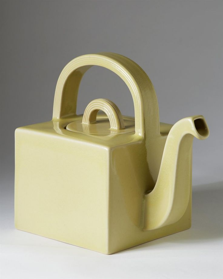 "Teapot designed by Signe Persson Melin for Höganäs studio's, Stoneware, H 18 cm/7"" - Modernity"