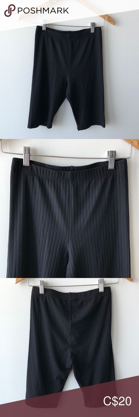 Black Biker Shorts 8% spandex super cute fitting never been worn!  Bundle this  …  – Biker shorts