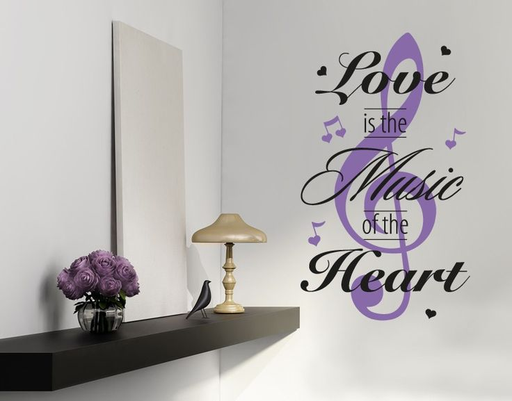 Nice Music of the Heart Wall Decal Music of the Heart Wall Sticker Music of the Heart Wall Tattoo