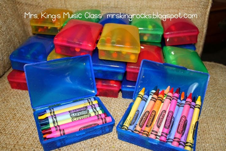 Mrs. King's Music Room: A Crayon Solution.  Did you know that these little soap boxes are the PERFECT solution for crayons?