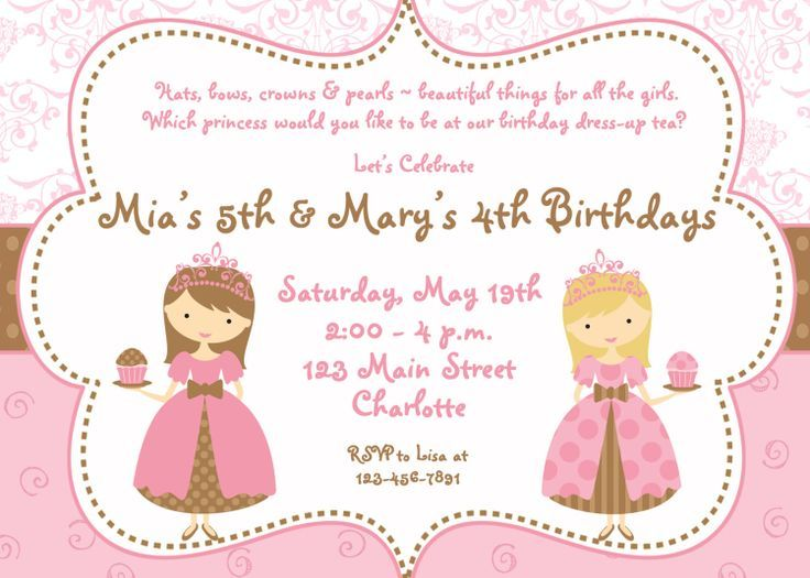 Download Now FREE Template Printable Birthday Invitations For Girls