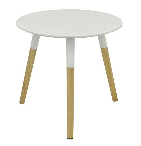 Three Hands Corporation 29236 Mid Century Modern White Wood Table,  WhiteMidcentury Modern