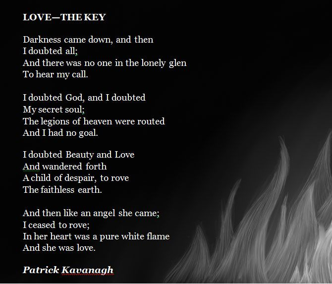 essay on the poetry of patrick kavanagh An analysis of the poem'advent' written by patrick kavanagh essay by bpower 2018, from.