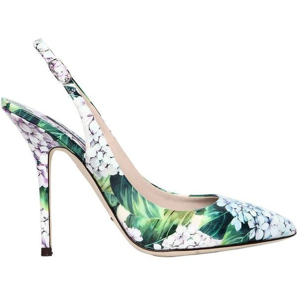 Dolce & Gabbana Women 90mm Bellucci Faux Patent Leather Pumps (€735) ❤ liked on Polyvore featuring shoes, pumps, heels, floral, high heels, multicolor, pointed-toe pumps, dolce gabbana shoes, colorful pumps and floral shoes