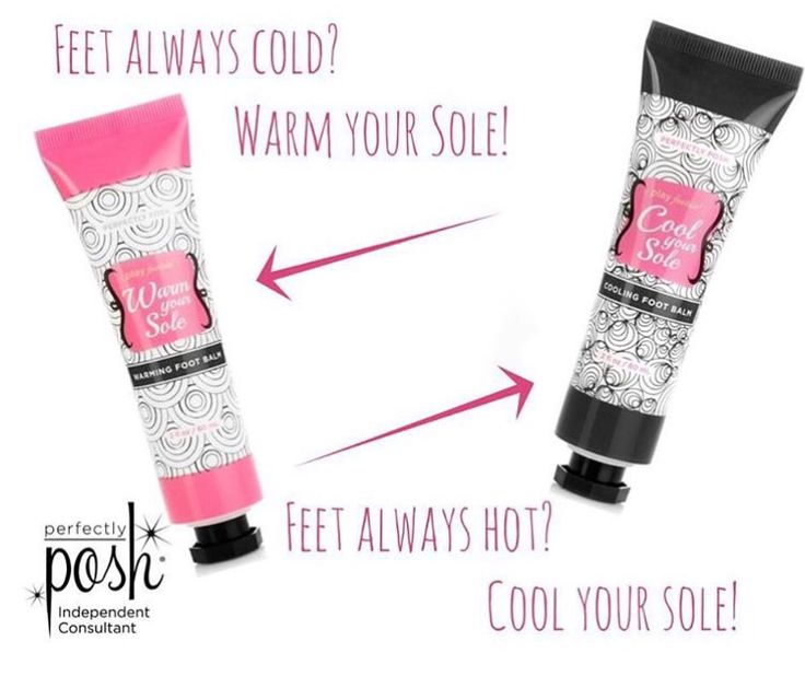 Hot feet? Cold feet? Let Perfectly Posh help. https://www.perfectlyposh.com/Jeanettejunior