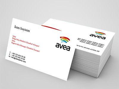 Avea firmalarına özel kartvizit tasarımları