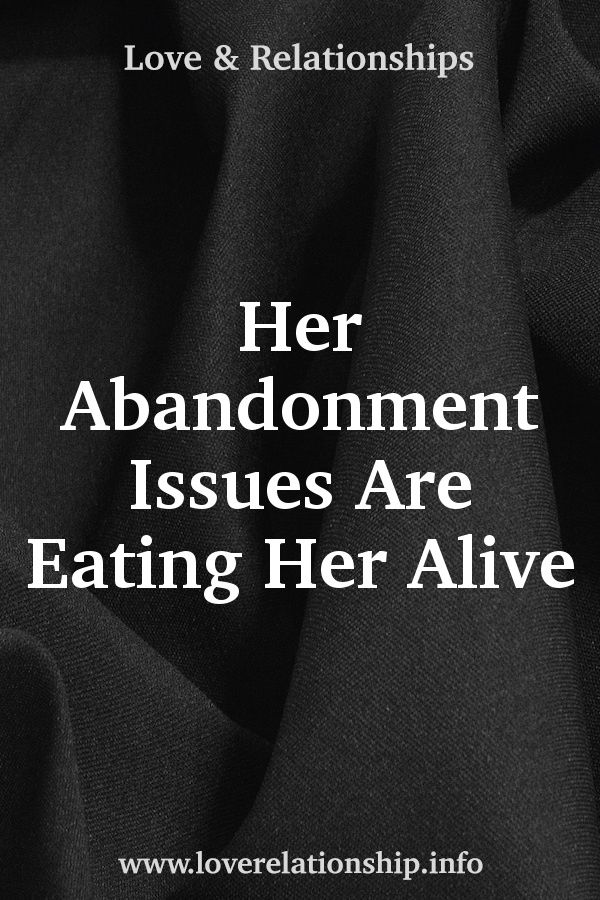 Abandonment issues in marriage