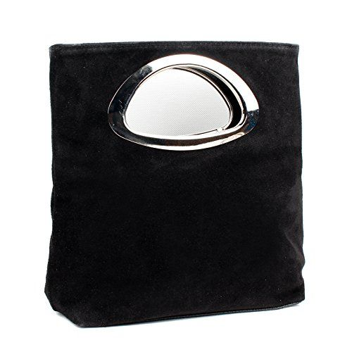 Aossta Ladies Real Italian Suede Leather Small Clutch andamp