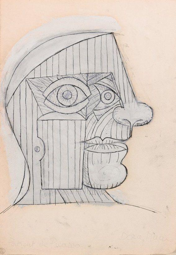Dora Maar (1907 - 1997) portrait of picasso