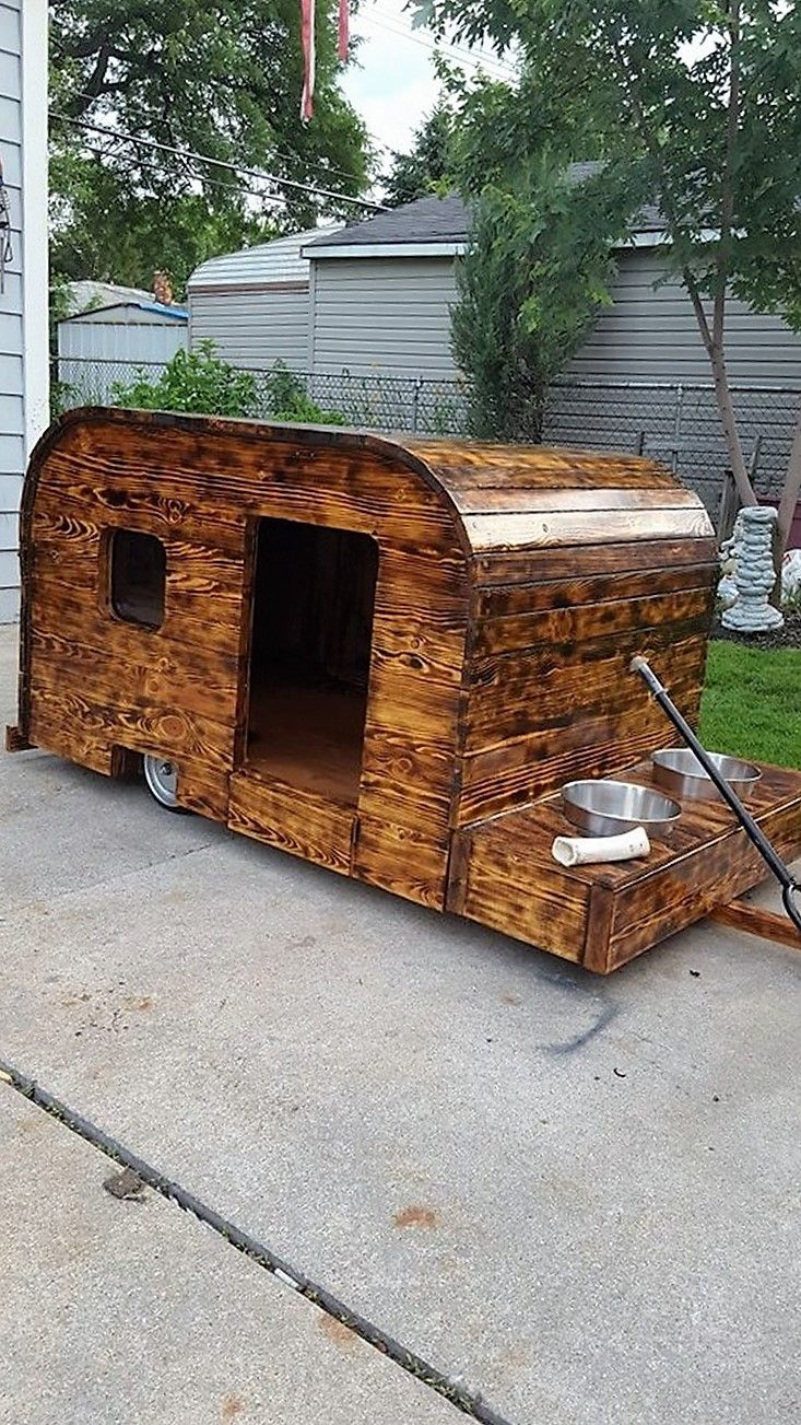 Kids love to have a place of their own where they can play anything they want. A pallet wood made paly house is like a dream come true for almost every kid.