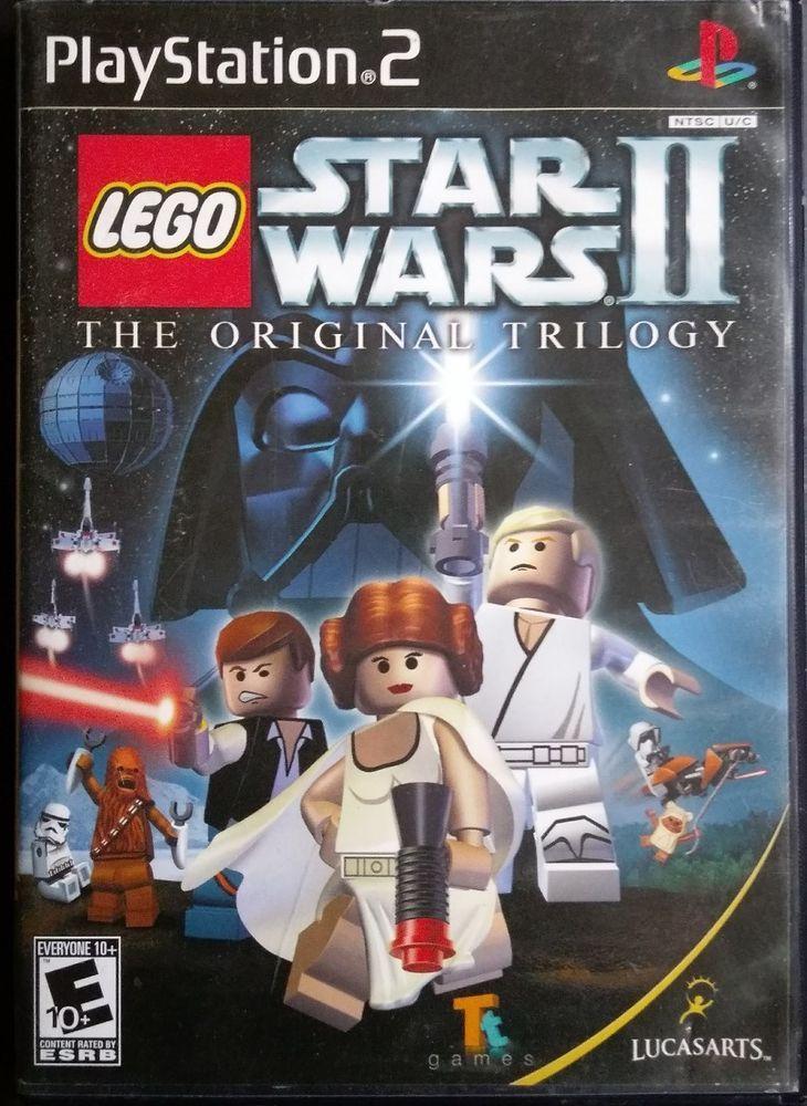 LEGO Star Wars II: The Original Trilogy (Sony PlayStation 2, 2006, Black Label) #LucasArts