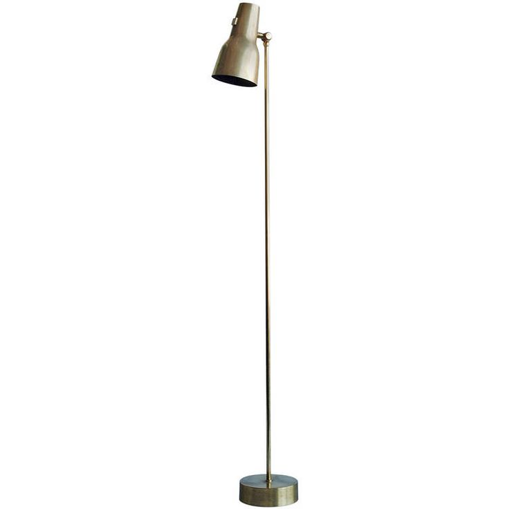 Scandinavian Floor Lamp by Falkenberg, circa 1960s   From a unique collection of antique and modern floor lamps at https://www.1stdibs.com/furniture/lighting/floor-lamps/