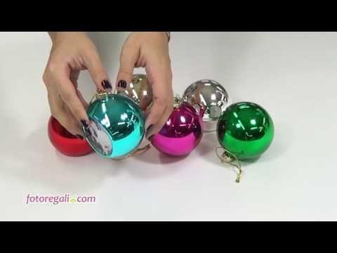 Palla di Natale vetro colorato - Fotoregali.com