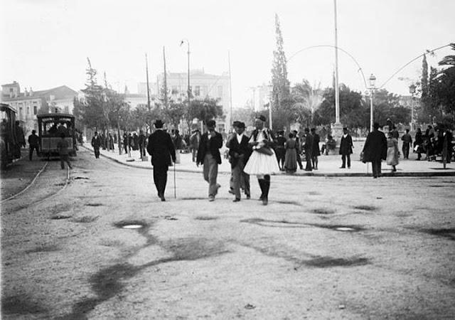 Hubert Pernot, 1898 ~ 1900. Η Πλατεία Ομονοίας !. (Φωτογραφία του Hubert Pernot 1870 ~ 1946). (Γάλλου Ελληνιστή,).