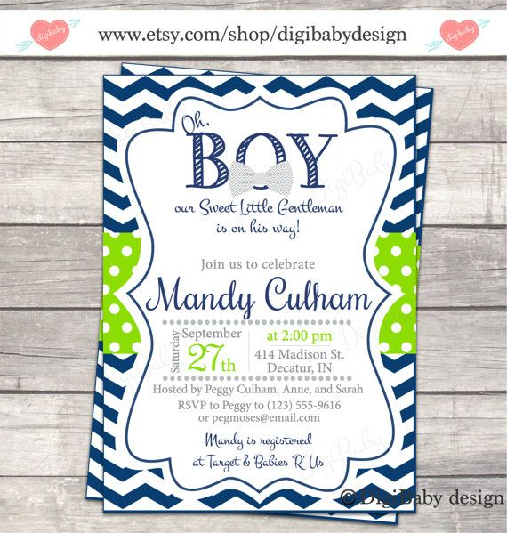 the 25+ best ideas about bowtie baby showers on pinterest   baby, Baby shower invitations