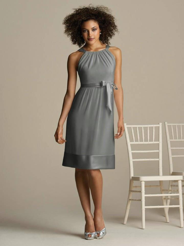 Steel Grey Mother of the Bride Dresses