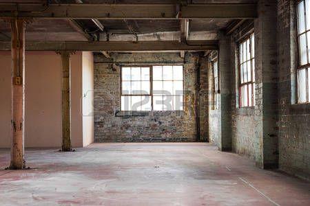 металл и интерьер: Пусто склад офис или торговый район, промышленные фоне