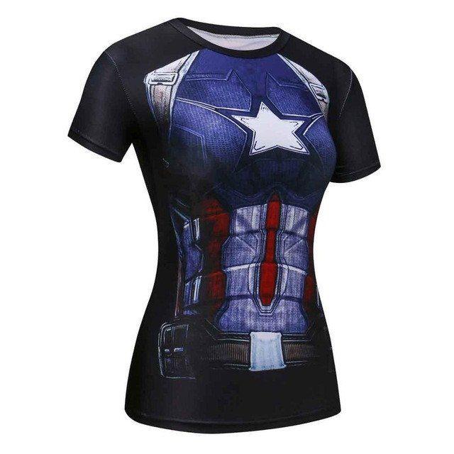 Marvel Captain America 3D Comic T-Shirt for Women