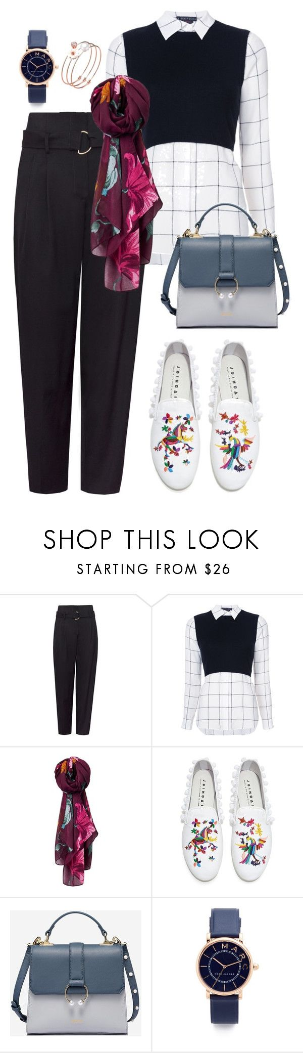 """""""Dusty"""" by afifahafifa on Polyvore featuring Alice + Olivia, Joules, Joshua's, Marc Jacobs, look, class and dusty"""