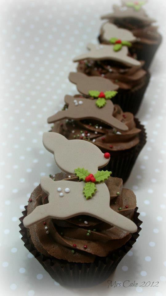 Chocolate Reindeers Cupcakes