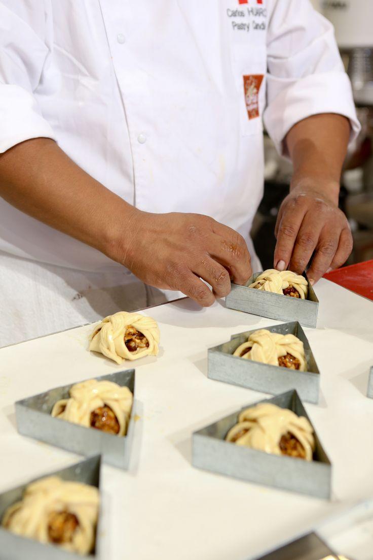 Masters de la Boulangerie 2014 – candidate du Pérou, Carlos HUARCAYA, catégorie Viennoiserie /2014 Bakery Masters – candidate from Peru, Carlos HUARCAYA, Viennese Pastry category  Copyright Clémentine BEJAT