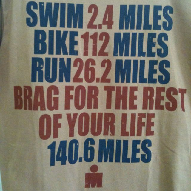 What it means to do an ironman. One day I'd like to take on this challenge