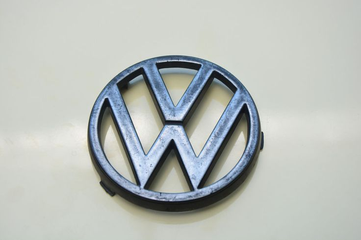 USED VW  BADGE VOLKSWAGEN EMBLEM SIGN LOGO 85mm DIAMETER  / 371853605 #VW