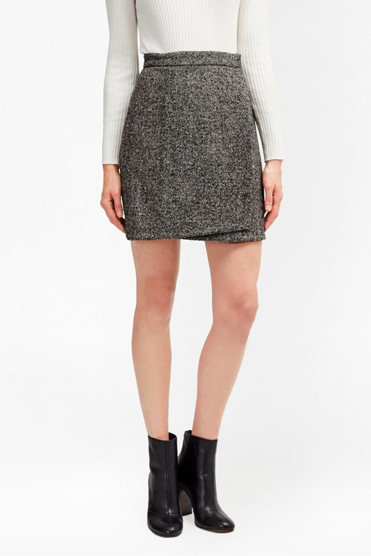 Rupert Tweed Wrap Mini Skirt | New Arrivals | French Connection Usa