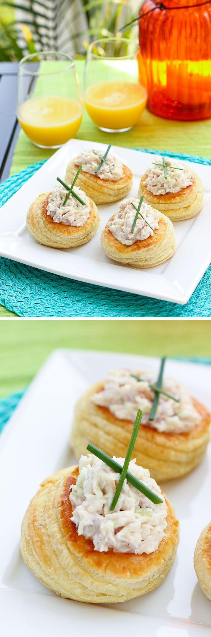 Smoked Whitefish Salad Vols-au-Vent: Easy, delicious, and snazzy appetizers! It'll look like you spent forever in the kitchen.