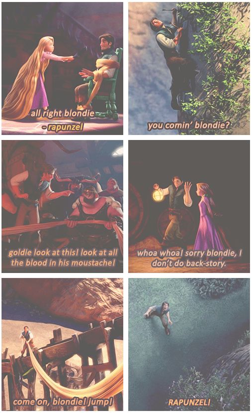 """From """"Blondie"""" to """"Rapunzel"""". I love this."""