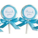 Wedding Favors & Party Supplies - Favors and Flowers :: Wedding Favors :: Edible Wedding Favors :: Wedding Lollipops :: Blue Lollipop Favors - 24 pcs