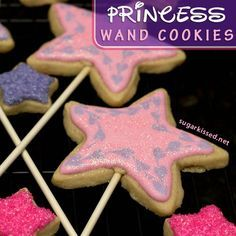 Perfect for a princess party! How To Make Princess Wand Cookies