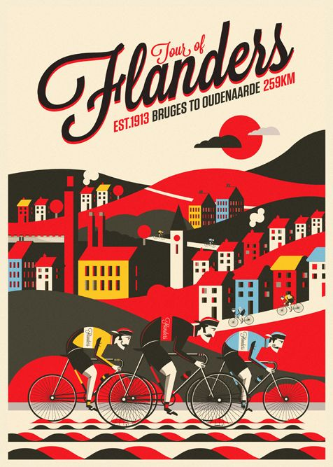 Spring Classic Cycling Prints by Neil Stevens
