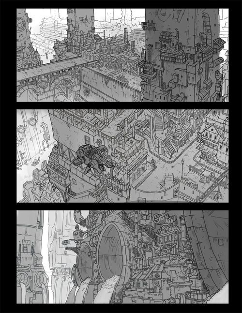 Environment sketches for my youtube...