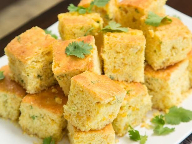 Get Creamed Cornbread with Jalapeno Butter Recipe from Food Network